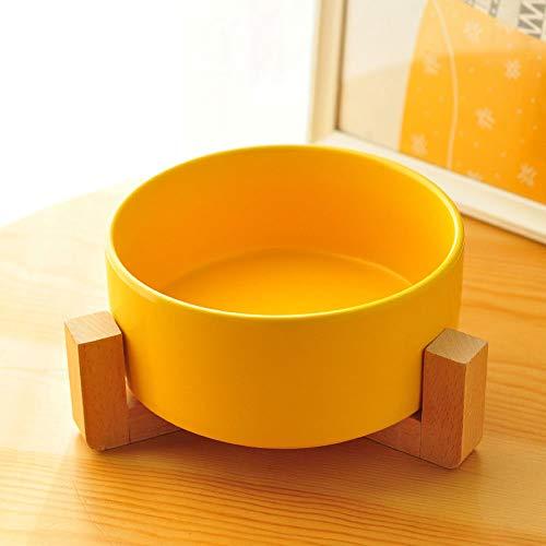 DjfLight Pet Bowl, lijst van keramiek, voor huisdieren, voeding en dranken, voor kleine honden, sterk, gemakkelijk te reinigen, kunsthandwerk, vijf kleuren, Red