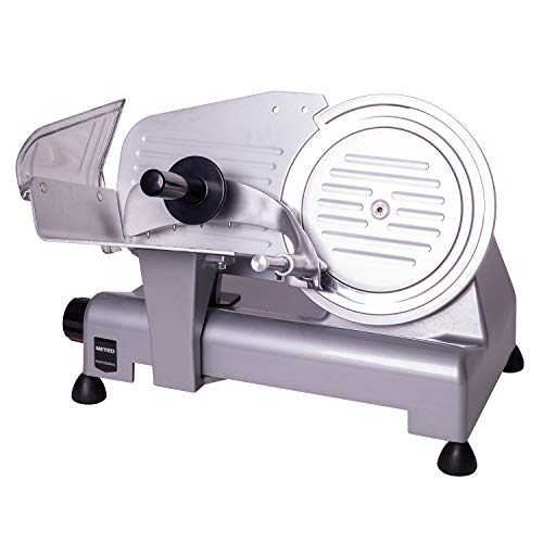 METRO Professional Aufschnittmaschine GFS2019 | 140 W | Messerschleifer | Stahlmesser | Allesschneider | Slicer | Wurstschneidemaschine | Schnittbreite 0-15 mm | Ø Messer 19,5 cm