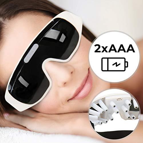 Preisvergleich Produktbild Augenmassagebrille - Augenmassagegerät Brille mit 24 weichen Massagefühlern - Wellness,  Augenmaske,  Augenentspannung,  Stressabbau