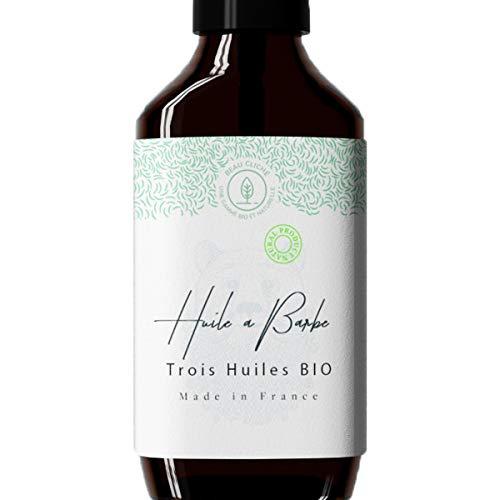 50ml Huile à Barbe à l'huile de Ricin, Jojoba et Avocat BIO - Fabriquée en France - Soin visage et barbe 100% naturel : Nourrit et Fortifie la barbe
