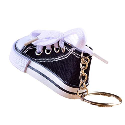Llavero Moda Sport Zapatos Llavero 3D Simulación Lona Zapatos Lona Zapatillas De Teclado Llavero Chucks (Color Aleatorio)