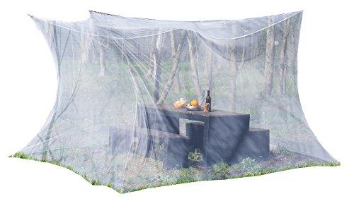 infactory Mosquitonetz: Moskitonetz für Innen und Außen, 300 x 300 x 250 cm, 220 Mesh, weiß (Moskitonetz XXL)