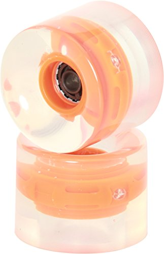 Prohibition Longboard Wheels Lumina 82A Pack of 2 Wheels Orange orange Size:58