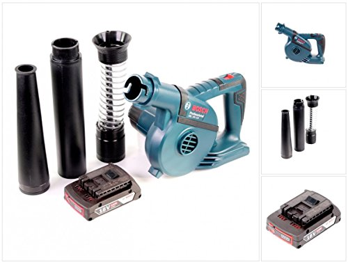 Bosch GBL 18 V-120 Akku Gebläse Laubbläser mit 1 x Bosch GBA 18 V 2,0 Ah Akku