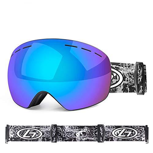 HAOQI Esquiando Deportivas Irrompible Protección UV Gafas,Aire Libre Deportes Moda Vintage Gafas De Sol,Doble Antiniebla Unisex Gafas De Sol Deportivas-J 18x10.5cm(7x4inch)