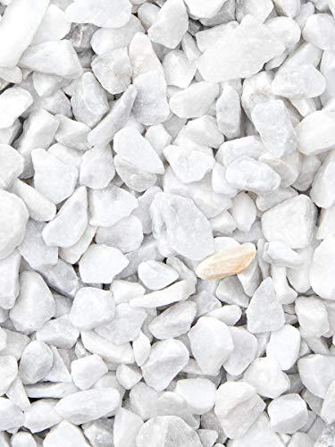 Grava blanca pura mármol. Marmolina blanca, piedra para decoración en jardín en sacas de 1500kg. Disponible en formatos 9-12mm y 16-25mm. (16-25mm)
