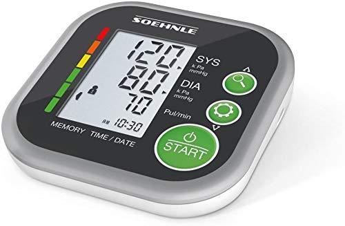 Soehnle Blutdruckmessgerät Systo Monitor 200 mit vollautomatischer Blutdruck- und Pulsmessung, Blutdruckmessgerät für den Oberarm mit WHO-Skala-Einstufung, Blutdruckmesser mit Arrhythmie-Erkennung