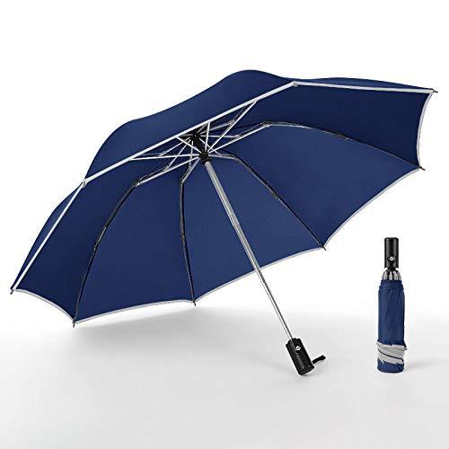 Paraplu Draagbare paraplu drievoudig hoog reflecterende strepen design automatische paraplu voor vrouwen en mannen