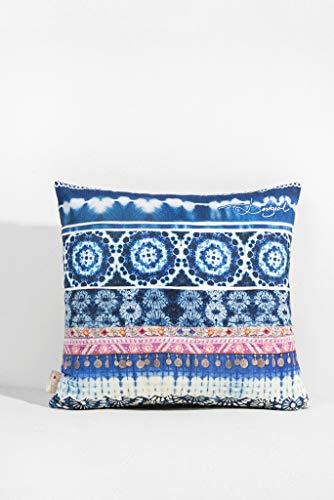 Desigual Cushion Exotic Stripes 45* 45Kissen quadratisch Synthetikfasern blau 45x 45cm