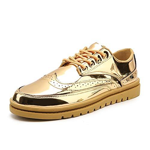 Heren Bestseller Oxford schoenen Brogue schoenen voor mannen Wing Tip Oxfords nonchalante veterschoenen bovenmateriaal van PU-leer met ronde kap lichtgewicht, ademende lak-wandelschoenen jurk Oxford schoenen