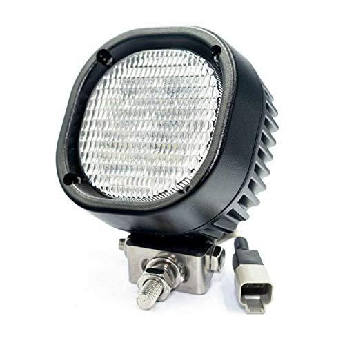 CRAWER Arbeitsscheinwerfer viereckig 40 Watt 40W Fendt DEUTSCH DT DEUTSCH-DT IP67 6.000 K Indoor Offroad arbeitslicht arbeitsleuchte Leuchte Traktor lampe scheinwerfer Landwirtschaft beleuchtung