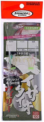 下田漁具 SIM311 イサキ・タイ五目 ウィリー仕掛 金チヌ 3本針 3-3 4.5m