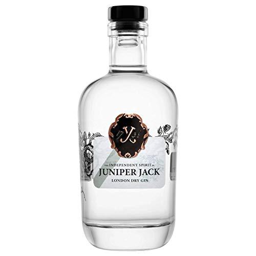 Juniper Jack Gin 1 x 0,5 l Flasche | London Dry Gin mit kräftigem Wacholder Aroma | Botanicals mit Noten von Zitrusfrüchten, Wermut und Koriander | handcrafted Gin | 46,5% vol. alc.