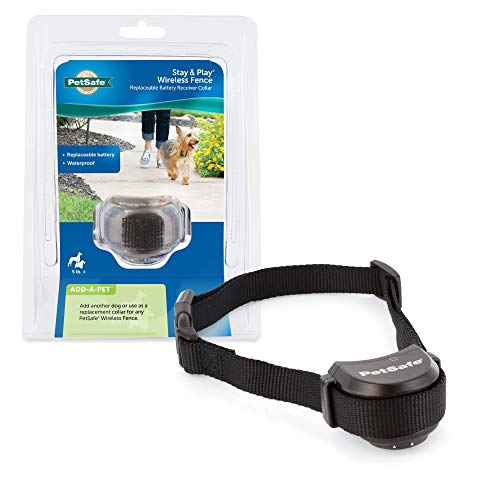 PetSafe Stay & Play Wireless Fence with Replaceable Battery Collar – For Dogs & Cats Over 5 lb –...
