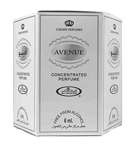 Business Square Pack de 6 Musc Perfume Al Rehab Avenue 6ml 100% Aceite