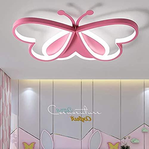 ZCCL Lámpara de Techo LED para niños, lámpara de Techo con Forma de Mariposa, lámparas Decorativas, Base de Pintura, Adecuada para niños, bebé, Princesa, habitación, guardería, etc.