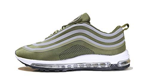 Mapleaf Frysen Herren Damen Sportschuhe Air Laufschuhe mit Luftpolster Turnschuhe Profilsohle Sneakers Leichte Schuhe Grün 41