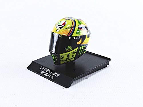 Minichamps 315140046 - Helm Valentino Rossi Motogp 2014 - maßstab 1/10 - Modell Auto