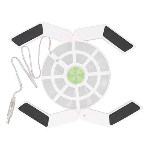 Yivibe Laptop Cooling Stand, 4.5 X 4.5 X 0.6Inch Computer Cooler, with Luminous Large Fan Adjustable for Gaming Laptop Notebook Laptops Computer(white)
