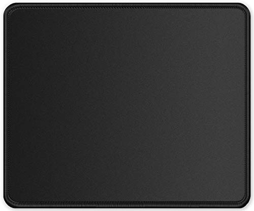 ITNRSIIET Mouse Pad【Upgraded Larger Version】Double Stitched Edge, Premium-Textured Mouse Mat Washable Lycra Cloth Non-Slip Rubber Base Mousepad for Gaming Laptop Computer PC 11.8×9.85 inches Black
