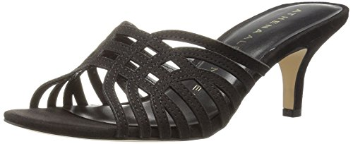 Athena Alexander Women's CECE Heeled Sandal, Grey Suede, 7 M US