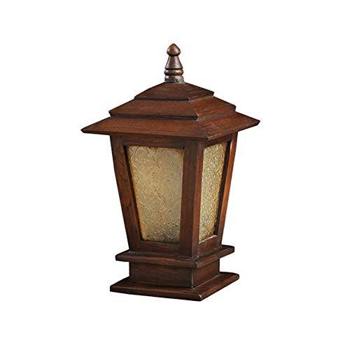 SCH Éclairage extérieur, éclairage de jardin en bois massif pour stigmates, éclairage de jardin paysager, lampadaire anti-pluie (Size : Small)