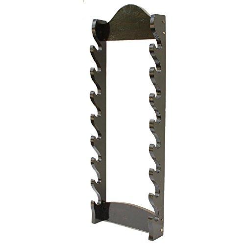 Armory Replicas Premium Eight Tier Solid Wood Wall Sword Katana Display Stand