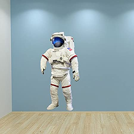 Full Colour Astronaut Nasa Space Wall Sticker Bedroom Decal Kids Playroom Decoration