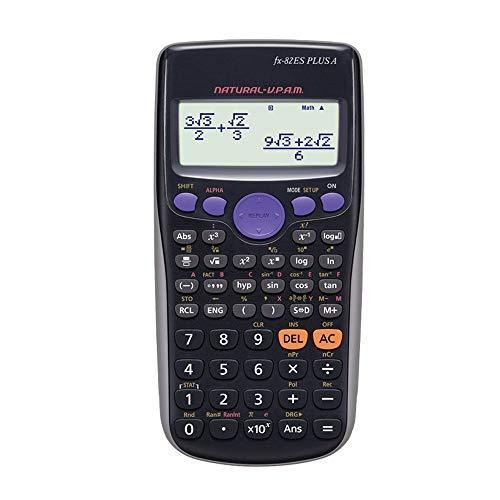 Office Rekenmachine Student Science leerfunctie Exam Calculator LCD-scherm gemakkelijk te lezen digitale plastic behuizing Cijferweergave Standaardfunctie (Color : Purple)