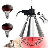 DFGENLY Lampe Chauffante Chiot Poussin, Lampe de Chaleur pour Thermostat Couveuse, Température Réglable, Chauffage Lampe à Infrarouge/Lumière Jaune pour Ménages, Les Fermes