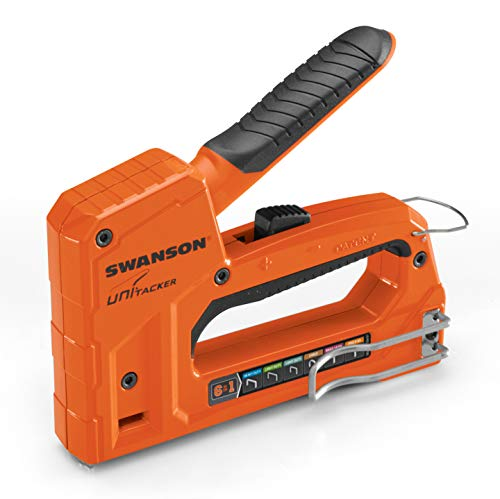 Swanson Tool Co STA869 Unitacker 6 in 1 Staple Gun/Hand Tacker; Fits Arrow Heavy Duty T50, Light Duty JT21 and T25 Staples; also Brad Nails and Headless Pins; Ships with 5?00 Assorted Staples