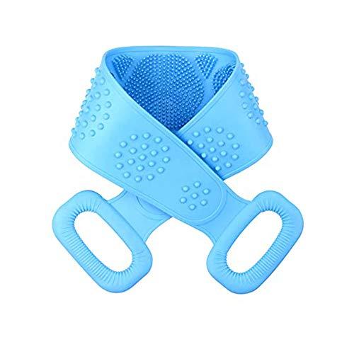 Silicona Cuerpo Cepillo,Cepillo Espalda Ducha,Cepillo Seco,Baño Silicona Cepillo Corporal Exfoliante,Masajeador Espalda Ducha per Limpiar Espalda y Euerpo,72 * 10cm(Azul)