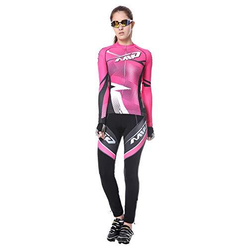 Extreme Pop Trajes de ciclismo para mujer 4D acolchados pantalones cortos de verano de manga corta Jersey de equitación Top marca Reino Unido (Rose2, XL)