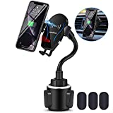 WALOTAR Wireless Car Charger-Cup Phone Holder Mount,Automatic Infrared Smart Sensor Clamping Qi 10W 7.5W Fast Universal Adjustable Cell Phone Wireless Charging Air Vent Cradle