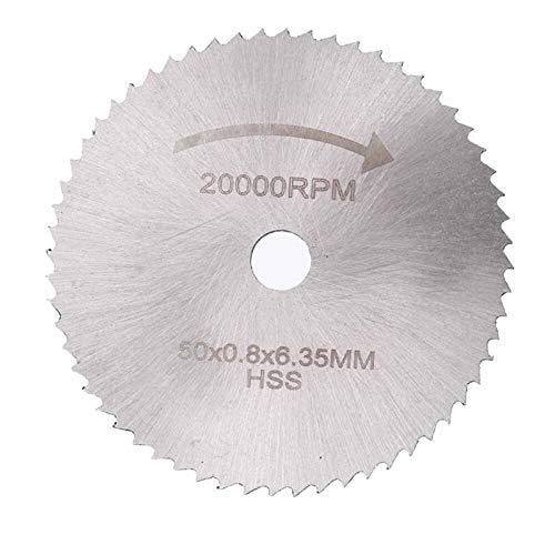 YUNJINGCHENMAN 10pcs HSS Sierra Circular Ajustada cortante de la Cuchilla de la Rueda de Disco con 3,175 y 6,35 mm Mandriles