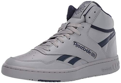 Reebok Unisex-Adult BB 4600 Sneaker, tin Grey/Collegiate Navy/tin Grey, 10 M US