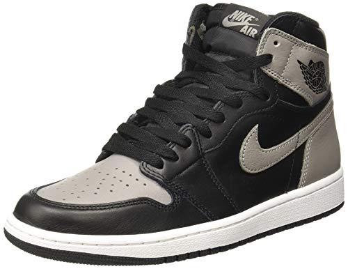 Nike Herren Air Jordan 1 Retro High Og Gymnastikschuhe, Schwarz (Black/Medium Grey/White 013), 43 EU