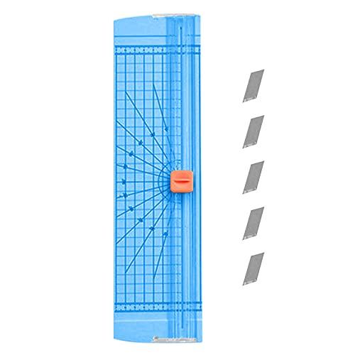 FEMONGY Cortadora de Papel A4, 1 articulo Guillotina, guillotina papel, Hecho de plástico, duradero, seguro y que no lastima las manos, portátil, adecuado para oficinas (4,5 x 9,5 x 35,5cm, azul)