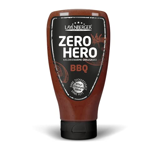 Layenberger ZERO HERO kalorienarme Grillsauce BBQ, 0,00 g Fett, ohne Zuckerzusatz, (1 x 250ml)