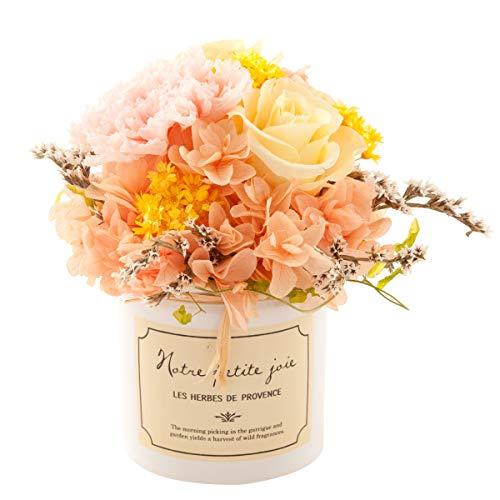 (ファンファン) &Preser プリザーブドフラワー 花 ギフト プレゼント ホワイトデー お祝い 内祝い 母の日 女性 おしゃれ アレンジメント ドラジェ ペールオレンジ