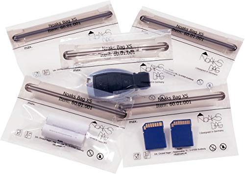 Noaks Bags - Set di buste, 5 pezzi, 1 x S / 2 S / 2 M, con chiusura a zip, 100% impermeabili, anti-odore e sicure