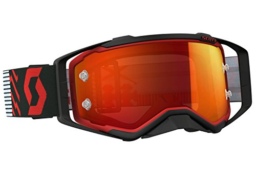 Scott Prospect MX Goggle - Gafas de sol para bicicleta de montaña, color rojo, negro y naranja