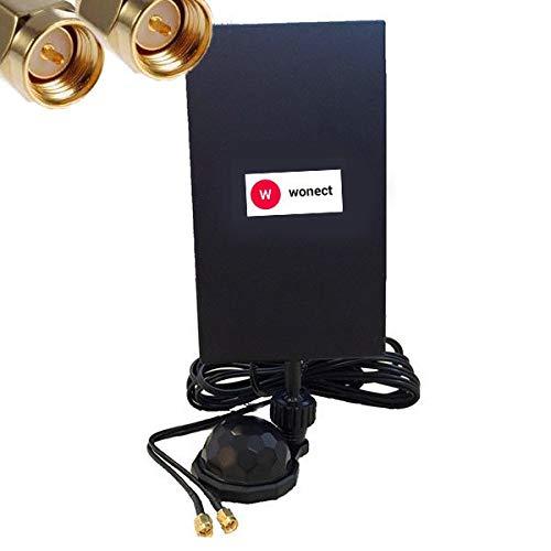 Antena Panel 4G con Ventosa 28dbi Interior Conectores SMA Macho Cable 3...
