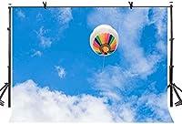 HD 10x7ft背景青い空と白い雲熱気球シンプルシリーズ写真の背景写真の背景カスタマイズされたスタジオの写真の背景背景の小道具LYXC249