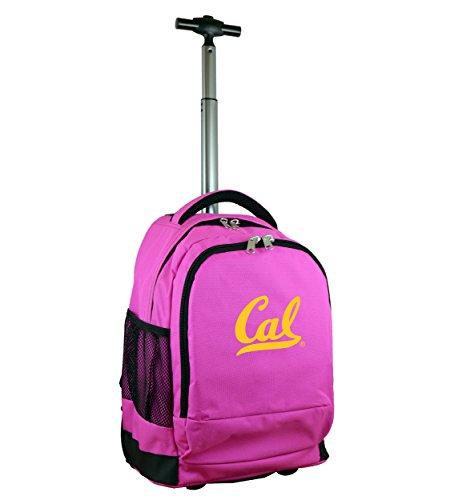 Denco NCAA California Golden Bears Wheeled Backpack, 19-inches, Pink