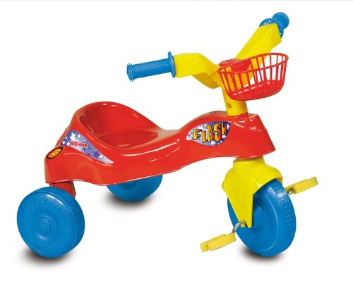 MGM - 111377 - Vélo et Véhicule pour Enfant - Boîte/Tricycle Flash Rouge - 59x47,5x46