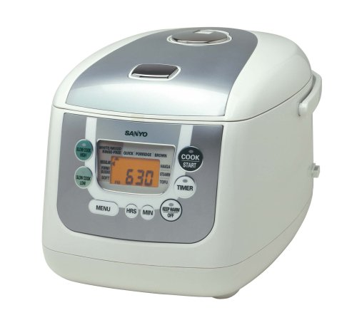 Sanyo ECJ-HC100S 10-Cup (Uncooked) Micro-Computerized Rice Cooker and Slow Cooker