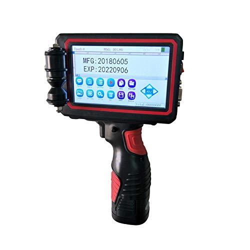 ALRY Tragbarer Handheld-Tintenstrahldrucker, Codedrucker, Etikettendrucker LED-Bildschirmanzeige Encoder-Markierung Datums-Encoder-Etikett Usw.