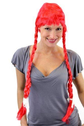 WIG ME UP Perruque rousse avec de Longues Tresses, Style Heidi, Gothique, Lolita, fête de la bière, Bavière. Idéal pour Carnaval/Cosplay. PW0094-PC13.