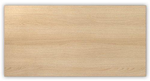 Bümö® stabile Tischplatte 2,5 cm stark - DIY Schreibtischplatte aus Holz | Bürotischplatte belastbar mit 120 kg | Spanholzplatte in vielen Formen & Dekoren| Platte für Büro, Tisch & mehr (Rechteck: 160 x 80 cm, Eiche) - 2
